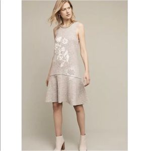 New Anthropologie knitted & knotted wool dress L